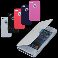 Hot Sale Magnetic Leather Flip Hard Full Case Cover Protect For iPhone 4G 4S