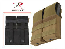 Rothco 50115 Double AR Mag Magazine BLACK or COYOTE TAN MOLLE Pouch Case Holder