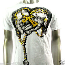 Artful Couture T-Shirt Sz M L XL XXL Cross God Tattoo Rock Punk Skate Board AW61