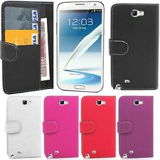 Flip Leather Wallet Case Cover For Samsung Galaxy Note 2 II N7100 *FREE FILM*