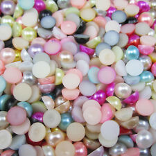 400pcs Half Round Pearl Bead Flat Back Size 4mm Scrapbook for Craft many colors