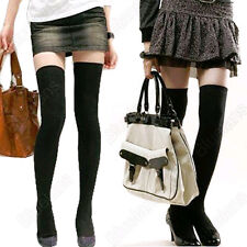 Long Over The Knee Cotton Socks Thigh High Soft Cotton Stockings for Women Girl
