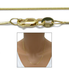 "14K Yellow Gold Diamond Cut Snake Chain Necklace 0.8mm 020 gauge 16""-24"""