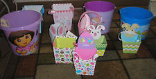 ASSORTED SMALL LARGE EASTER BASKETS DORA BUNNY FOX OWLS METAL PLASTIC CARDBOARD
