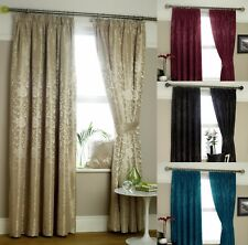 ETON FULLY LINED JACQUARD SCROLL CURTAINS- Choice of Colours & Sizes