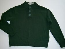 Boys CHEROKEE sweater NEW cotton button crew neck green 4-5 8-10 12-14 Christmas