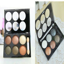 New Pro Makeup 6 Colors Silky Naked Eye Shadow Eyeshadow Powder Palette Brush