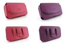 Holder Case Purse Clip Pouch Holster for Cell Phones in Pink and Purple Colors