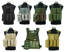 New Airsoft Tactical Military Hunting Molle Plate Carrier Adjustable Combat Vest