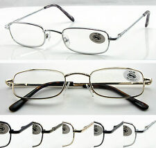 (R45D) 2 Pairs Reading Glasses+0.5+0.75+1+1.25+1.5+1.75+2+2.25/Metal Frame/Sping