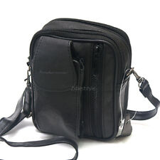 New Mens Black Leather Belt Loops Waist Bag Wallet Mini Messenger Bag#0720