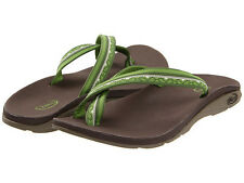 CHACO TANANA EcoTread Water Sport Flip Flops GREEN & BROWN Women's
