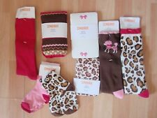 NWT GIRLS GYMBOREE PARISIAN CHIC TIGHTS, SOCKS SZ 3-4, 4-5 YEARS