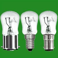 100x 25W Dimmable Clear Pygmy Light Bulbs, BC, B22, SBC, B15d or SES, E14 Lamps