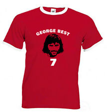 George Best Tee Shirt Number 7 Manchester United Man U Brand New All Sizes