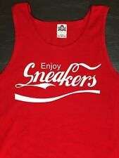 Coke Cola Enjoy Sneakers Kicks Shoes Laced Custom Tank S M L XL 2XL 100% Cotton