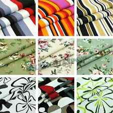 Canvas/Cotton Stripe/Floral Fabric for Upholstery Table Cloth Sofa Curtain Craft