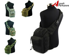 Airsoft Molle Tactical Shoulder Strap Bag Pouch Backpack 6 Colors Black/TAN/OD