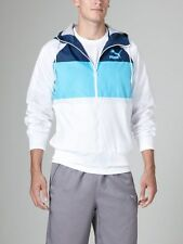 Puma Men's Heritage Wind Jacket. White/Dark Denim - MSRP.$70.00. Large