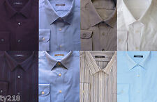 NEW EX M&S MENS LONG SLEEVED POLYCOTTON SHIRT VARIOUS COLOURS & SIZES