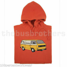 Bus Brothers Mens Hoodie Hoody Hooded T25 T3 Transporter Panel Van Volkswagen VW