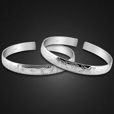 Children Genuine Solid Sterling Silver Blessed Cuff Bangle Bracelet B109