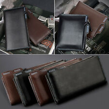 New Man Real Leather Wallet Cards Purse New Zipper Short/Long Money Clips CR103