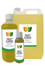 SWEET ALMOND OIL - Cold Pressed FREE P&P (Massage Carrier Base Aromatherapy)