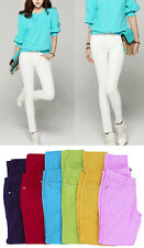 Size 0~13 Colored Ankle Stretch SKINNY JEANS Trendy Low-rise Denim JEGGINGS Pant