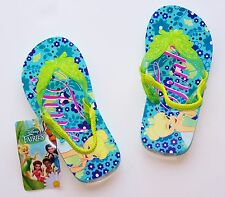 TINKER BELL DISNEY FAIRIES Flip Flops Beach Sandals NWT Size 7/8, 9/10 or 11/12