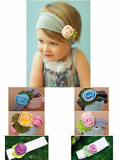 Lovely Kids Baby Girl Toddler Princess Cotton Flower Headband Headwear Hair Band