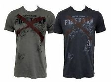 Mens Firetrap X-Fire Graphic Printed T-Shirt, Grey and Navy, Sizes S M L XL