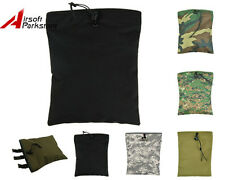 Airosft Molle Tactical Military Magazine Mag Tool DUMP Drop Pouch Bag 6 Colors