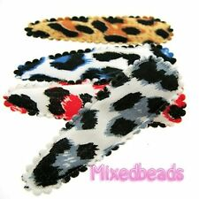 "*U PICK* 30-500 Leopard Print Cover 2 1/8"" animal Hair Clip applique 55mm fabric"