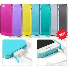 New Silicon TPU Dustproof Rubber Fitted Case Skins for Apple iPhone 4 4S 4G BD2A