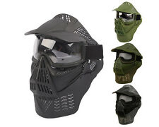 Airsoft Tactical Full Face Guard Mask with Goggles & Neck Protector 2 Colors A