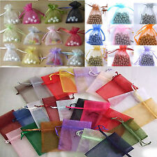 Hotsale Lot 500pcs Jewelry Pouch Wedding Favor Organza Gift Pouch Bag Sack 7x9cm