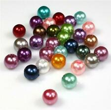 20 COLOUR CHOICE TOP QUALITY ACRYLIC FAUX PEARL BEADS 4mm 6mm 8mm 10mm 12mm