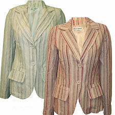 Ladies Jacket Blazer Tunic  Miss Posh Womens Striped New