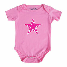 DALLAS COWBOYS PINK INFANT LOGO ONE PIECE CREEPER