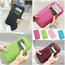 6 Colors Travel Wallet Passport Credit ID Card Cash Holder Document Organize Bag