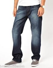 Mens Firetrap Roma Straight Classic Comfort Fit Jeans, Three Washes