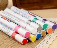 1x Colorful Permanent Paint Pen Tire Metal Outdoor Marking Ink Marker 11color