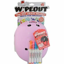 Triple 8 Kids Wipeout Dry Erase Skateboard/Scooter/Derby/BMX Bike Helmet- Pink