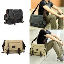 Vintage Casual Men Women Canvas Large Capacity Messenger Bookbag Shoulder Bag