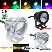 10W 12V RGB LED Underwater Spot Light IP68 Waterproof Pool Pond Aquarium Lamp