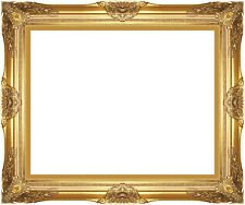 Museum Quality Majestic Gold Wood Picture Frame Ready-made Canvas Art Paintings