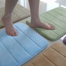 Memory Foam Bathroom Bath Mat Rug In Many Colors & Sizes Soft Touch Durable