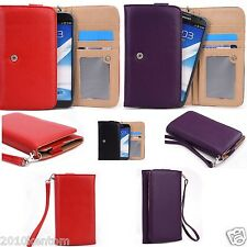 New Phablet Large Clutch Purse Chic Flip Slim Wallet Case Smartphone Cover Pouch
