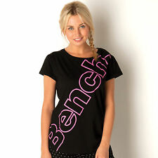 Bench Womens Logo Top In Black From Get The Label